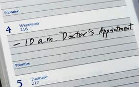 diary entry for doctor's appointment